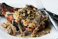 Steak with Creamy Whiskey Mushroom Sauce