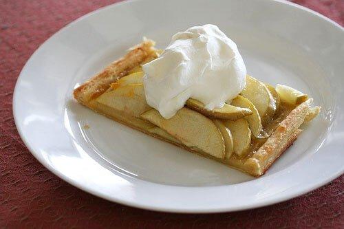 Easy Apple Tart with Bourbon Whipped Cream