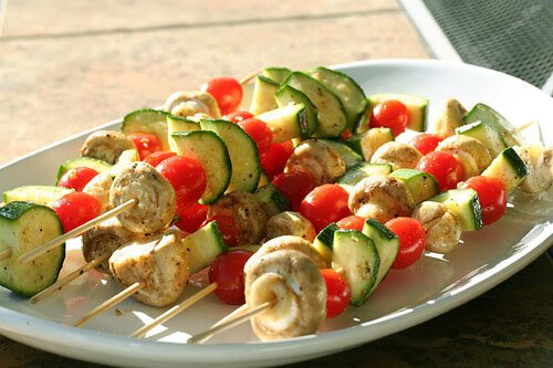 Moroccan Vegetable Skewers