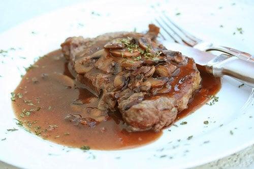 Fancy Restaurant Food Steak Top a steak just like fancy