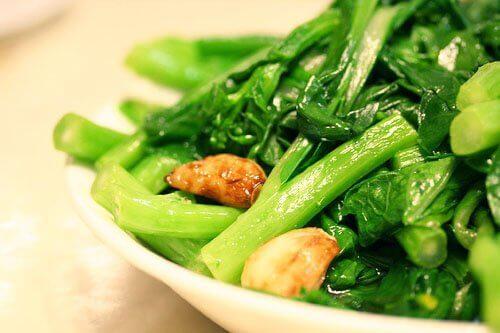 Yu Choy in bowl
