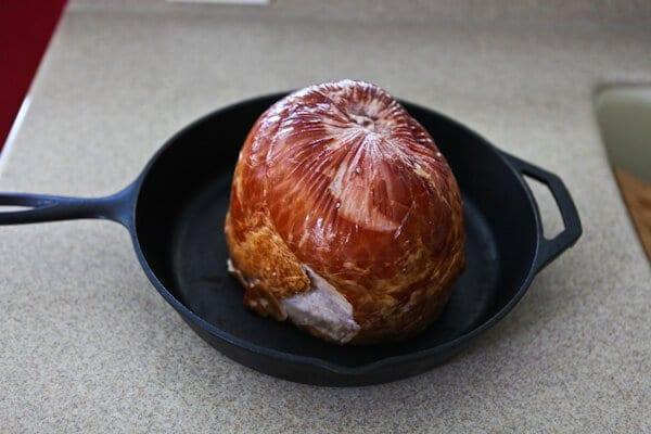 ham in pan