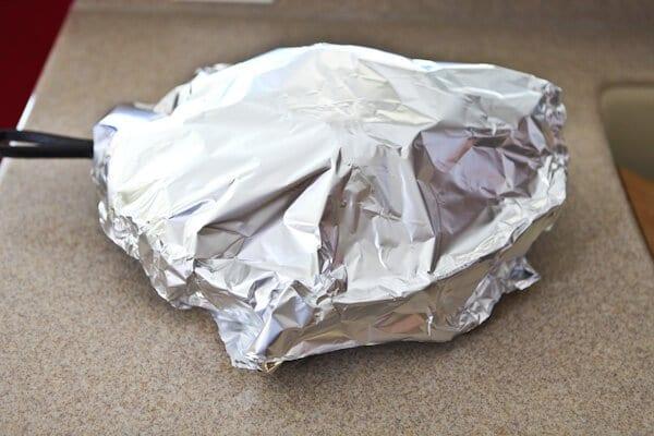 foil over pan