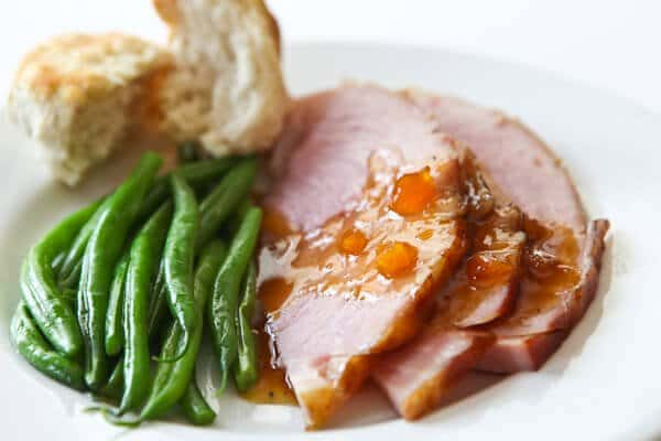 Easter Ham with Mango Ginger Glaze