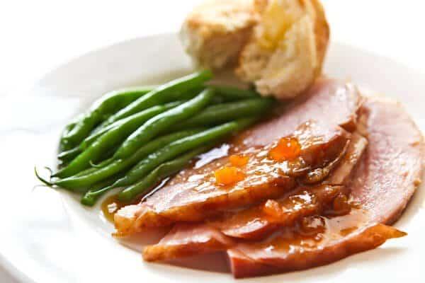 glazed ham recipe with greens