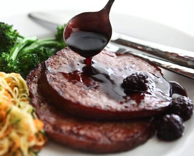 Easter Ham Recipe with Blackberry Rum Glaze (for 2-4)