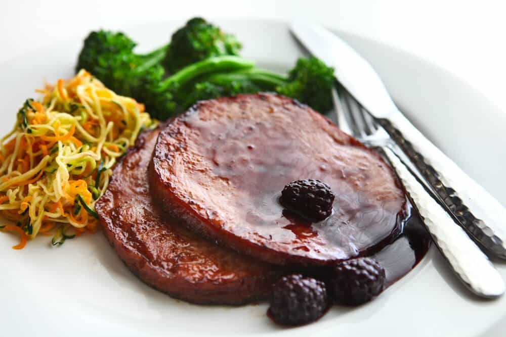 Blackberry Rum Glazed Ham Recipe