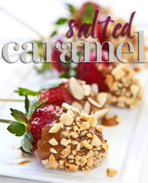 Salted Caramel Covered Strawberrie
