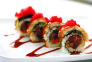 Spicy Tuna-Unagi Roll with Chilli Tobiko