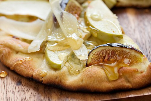 Warm Fig, Apple and Gorgonzola Flatbread