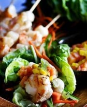 shrimp in lettuce