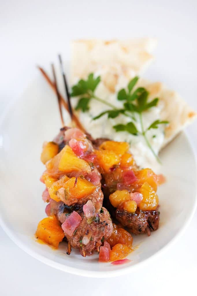 Lamb Kabob with Spicy Mango Chutney and Whipped Feta Recipe