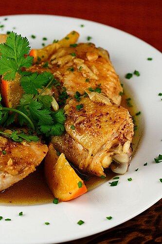Ginger, Coriander & Orange Braised Chicken
