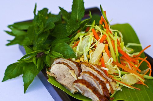 Roasted Duck and Pomelo Salad