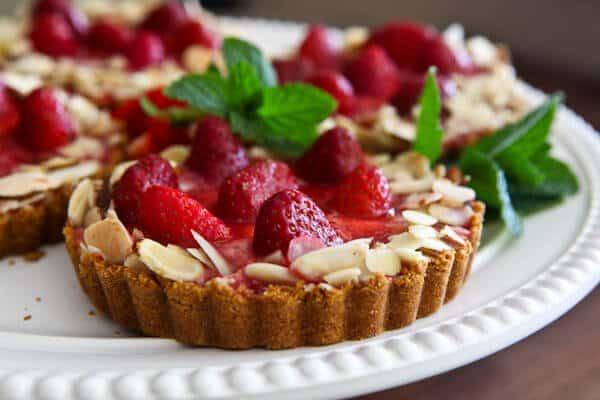 Strawberry-Almond Cream Tart recipe with fresh strawberries