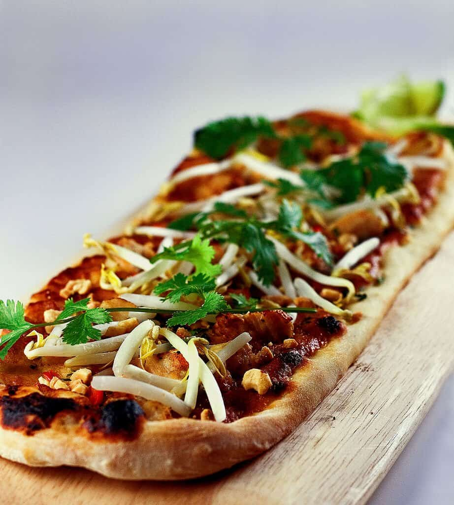 Thai Peanut Chicken Flatbread