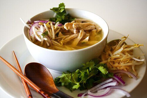 pho soup recipe noodle Vietnamese Ga:  Steamy Recipes Chicken Soup  Kitchen Noodle Pho