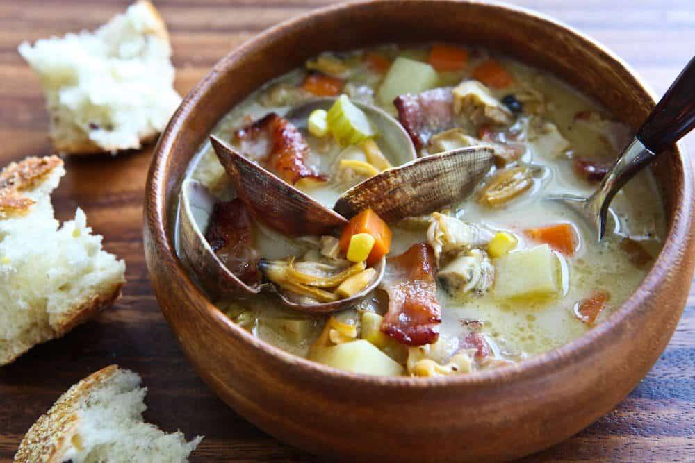 {photo} Smoky Clam and Corn Chowder - Steamy Kitchen Recipes