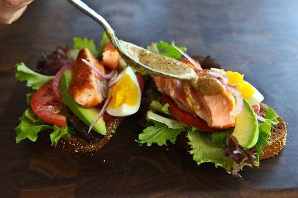 Open Face Salmon Sandwich with Sweet Mustard Sauce Recipe by Marcus ...
