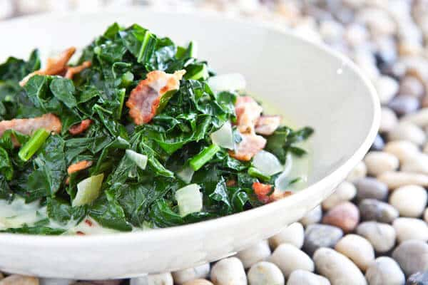 Kale and Bacon, Caribbean Style