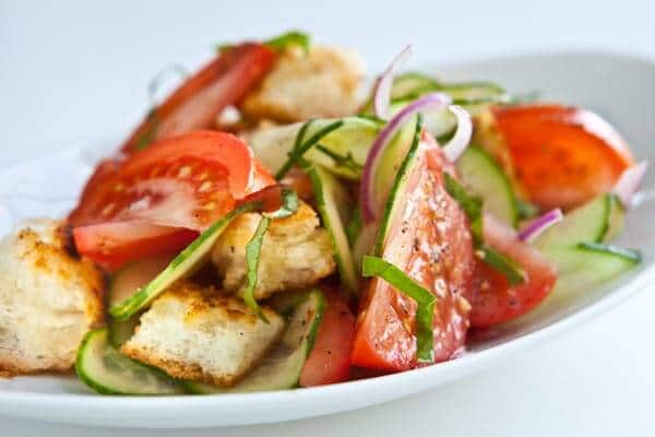 ... testing today — Panzanella Salad with Tomatoes, Cucumbers and Basil