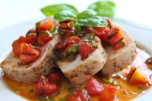 Pork Tenderloin with Warm Grilled Tomato Salsa