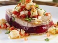 Seared-Ahi-with-Lilikoi-Shrimp-Salsa