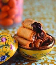 Chocolate Kumquat Spring Rolls