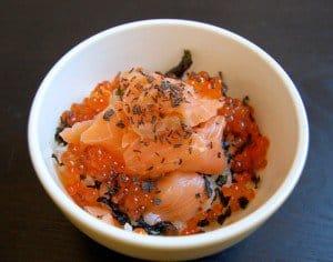 Salmon and Ikura Donburi
