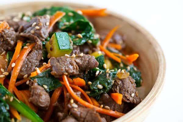 Korean beef rice bowl steamy kitchen recipes korean beef rice bowl forumfinder Choice Image