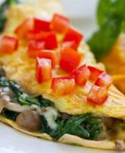 brown beech omelet