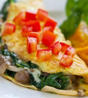 brown beech omelet