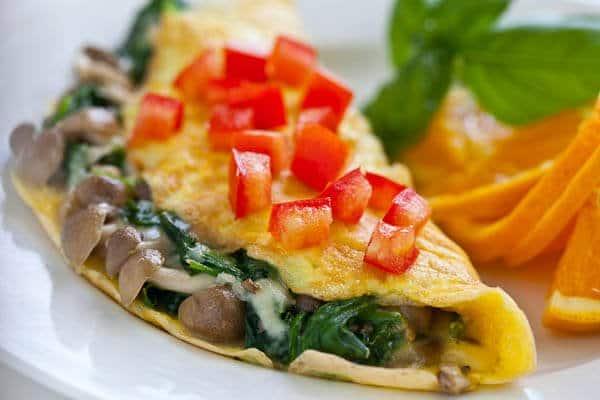 vegetarian omlette