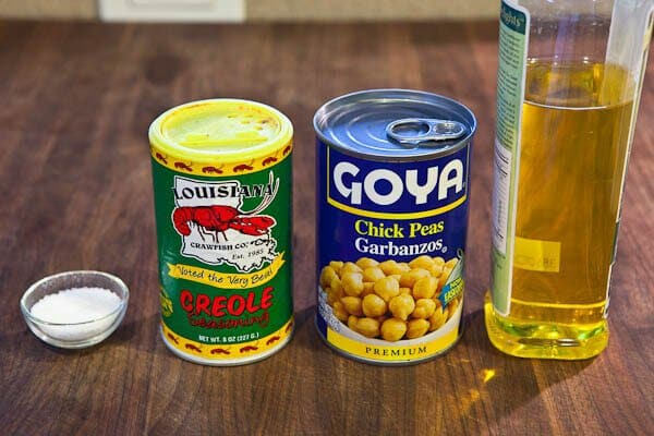 Ingredients for Crispy Roasted Chickpeas Recipe