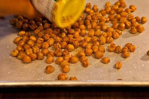 Crispy Roasted Chickpeas Recipe | Steamy Kitchen