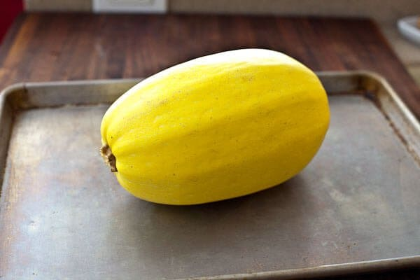 Roast the squash whole! Spaghetti Squash Recipe