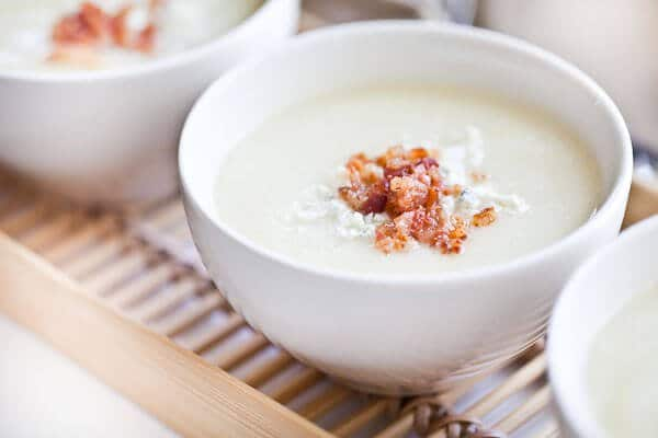 Creamy Cauliflower Soup with Bacon and Gorgonzola - Steamy Kitchen ...