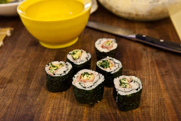 Green Eggs and Ham Sushi - Steamy Kitchen Recipes