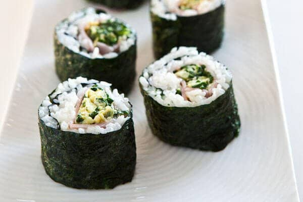 Green Eggs and Ham Sushi