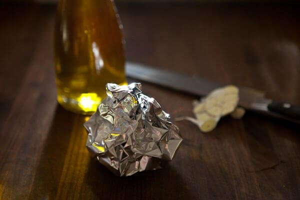 garlic in foil