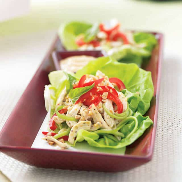 spicy chicken lettuce wraps thai chicken lettuce wraps chicken fajita ...