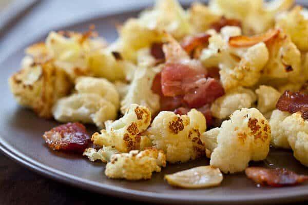 Roasted Cauliflower with Bacon and Garlic - Steamy Kitchen ...