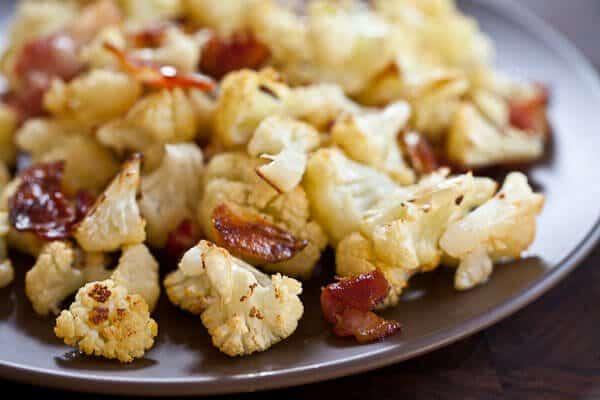 roast cauliflower on plate