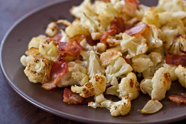 Roasted Cauliflower with Bacon and Garlic - Steamy Kitchen Recipes