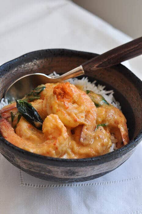 Prawns With Coconut Milk And Preserved Crab Fat Ginataang