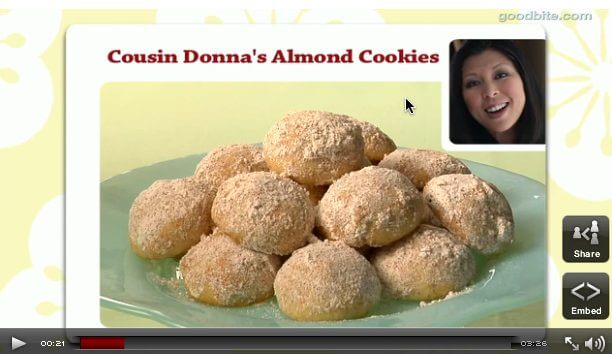 Cousin Donna's Almond Cookies (video)