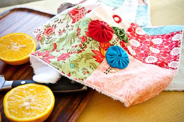 Easy Sew Kitchen Hand Towels • Steamy Kitchen Recipes