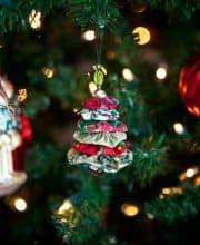 Sew Christmas Tree Yo Yo Ornament