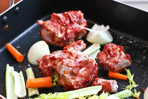 Prime Rib Recipe - Roast oxtail and veggies