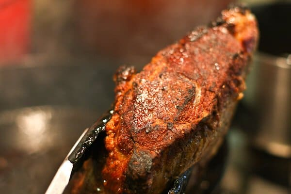 close up of perfect prime rib
